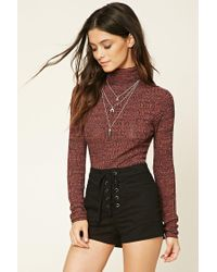 Forever 21 - Multicolor Marled Turtleneck Jumper - Lyst