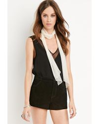 Forever 21 - Black Genuine Suede Shorts - Lyst