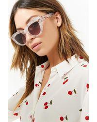 Forever 21 Gray Plastic Cat-eye Sunglasses