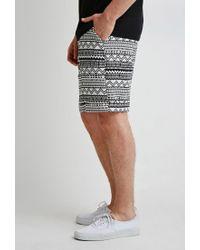 Forever 21 - Black Pattern Trouser Shorts for Men - Lyst