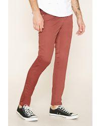Forever 21 - Natural Cotton-blend Slim Fit Pants for Men - Lyst