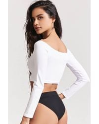 Forever 21 White Seamless Crop Top
