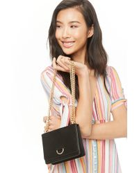 Forever 21 Faux Suede Crossbody , Black