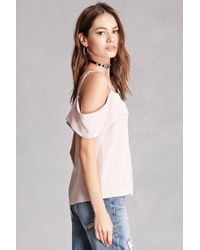 Forever 21 - Multicolor Foldover Open-shoulder Top - Lyst
