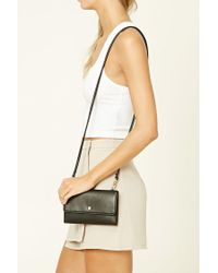 Forever 21 - Black Faux Leather Mini Crossbody - Lyst