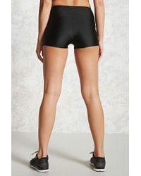 Forever 21 Black Active Nylon Bike Shorts
