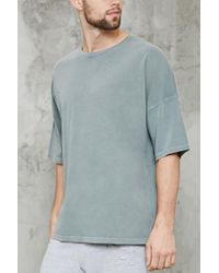 Forever 21 - Gray Faded High-low Tee for Men - Lyst