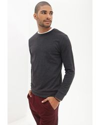 Forever 21 - Gray Classic Crew Neck Sweatshirt for Men - Lyst