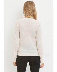 Forever 21 - Natural Classic Heathered Sweater - Lyst