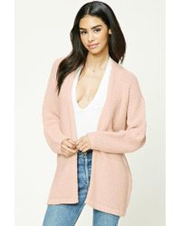 Forever 21 - Multicolor Open-knit Cardigan - Lyst