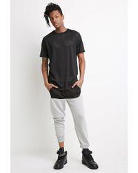 Forever 21 Gray Mesh-paneled Sweatpants for men