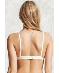 Forever 21 - Natural Semi-sheer Lace Bralette - Lyst