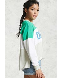 Forever 21 Green Ohayou Colorblocked Sweatshirt