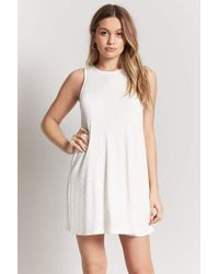 Forever 21 Natural Waffle-knit Swing Dress