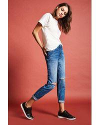Forever 21 Blue Girlfriend Jeans