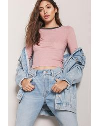 Forever 21 Multicolor Ribbed Knit Tee