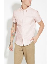 Forever 21 - Pink Striped Cotton Shirt for Men - Lyst