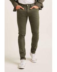 Forever 21 - Green Low-rise Skinny Jeans for Men - Lyst