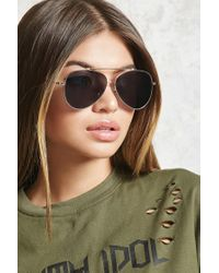 Forever 21 | Gray Classic Aviator Sunglasses | Lyst