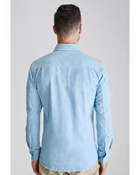 Forever 21 - Blue Denim Button-down Shirt for Men - Lyst