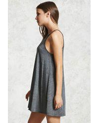Forever 21 - Gray Mini Shift Dress - Lyst