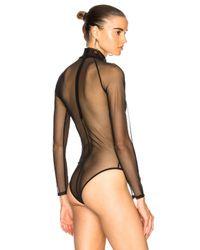 Fleur du Mal - Black Tulle Bodysuit - Lyst