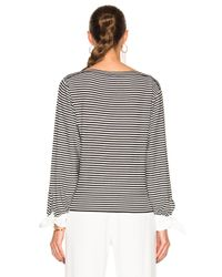 Chloé - Black Cotton Micro Stripe Sweater - Lyst