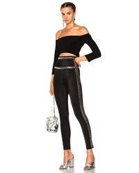 Norma Kamali Black Side Seam Stud Leggings