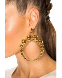 LPA | Metallic For Fwrd Crescent Sphere Earrings In Gold Plated | Lyst