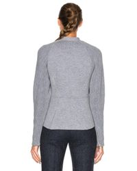 3.1 Phillip Lim | Gray Double Knit Moto Jacket | Lyst