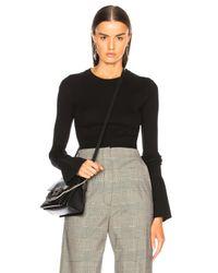 Proenza Schouler Black Cashmere Blend Crewneck Sweater