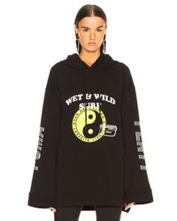 PUMA - Black Cinched Hoodie Dress - Lyst