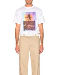 Acne White Jaceye Sweden Graphic Tee for men