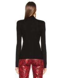 Chloé | Black Superfine Ribbed Knit Turtleneck Sweater | Lyst
