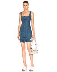 Stella McCartney - Blue Super Stretch Denim Dress - Lyst