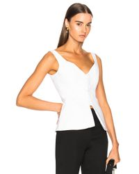 Nicholas - White Bi Stretch Top - Lyst