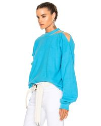 Y. Project Blue Cut Out Sweater