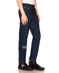 Off-White c/o Virgil Abloh Blue No Wash Medium 5 Pocket Jeans