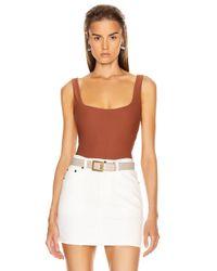 Alix NYC Brown Mott Bodysuit
