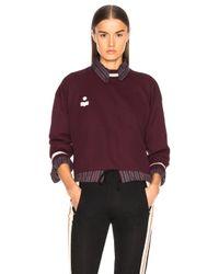 Étoile Isabel Marant Purple Dayton Sporty Knit Sweatshirt