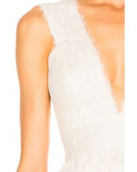 Zuhair Murad White Georgette & Lace Gown
