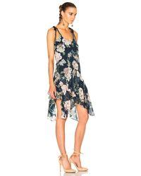 Lover - Blue Dahlia Drop Waist Dress - Lyst