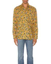 Comme des Garçons Yellow Long Sleeve Shirt for men