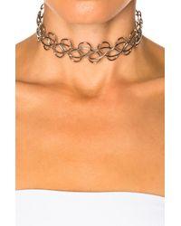 Acne - Metallic Fabi Small Necklace - Lyst