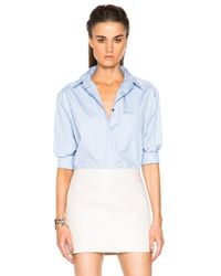 Acne Studios | Blue Addle Pop Button Down | Lyst