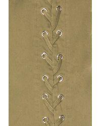 A.L.C. Green Valer-up Dress Olive