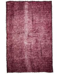 Ann Demeulemeester Red Cashmere Scarf