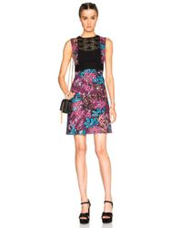 Burberry Prorsum | Multicolor Printed Lace and Cotton-blend Dress | Lyst