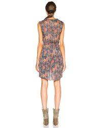Étoile Isabel Marant Black Sukey Slavic Flowers Dress