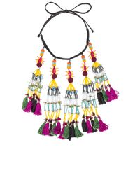 Etro | Multicolor Tassel Beaded Necklace | Lyst